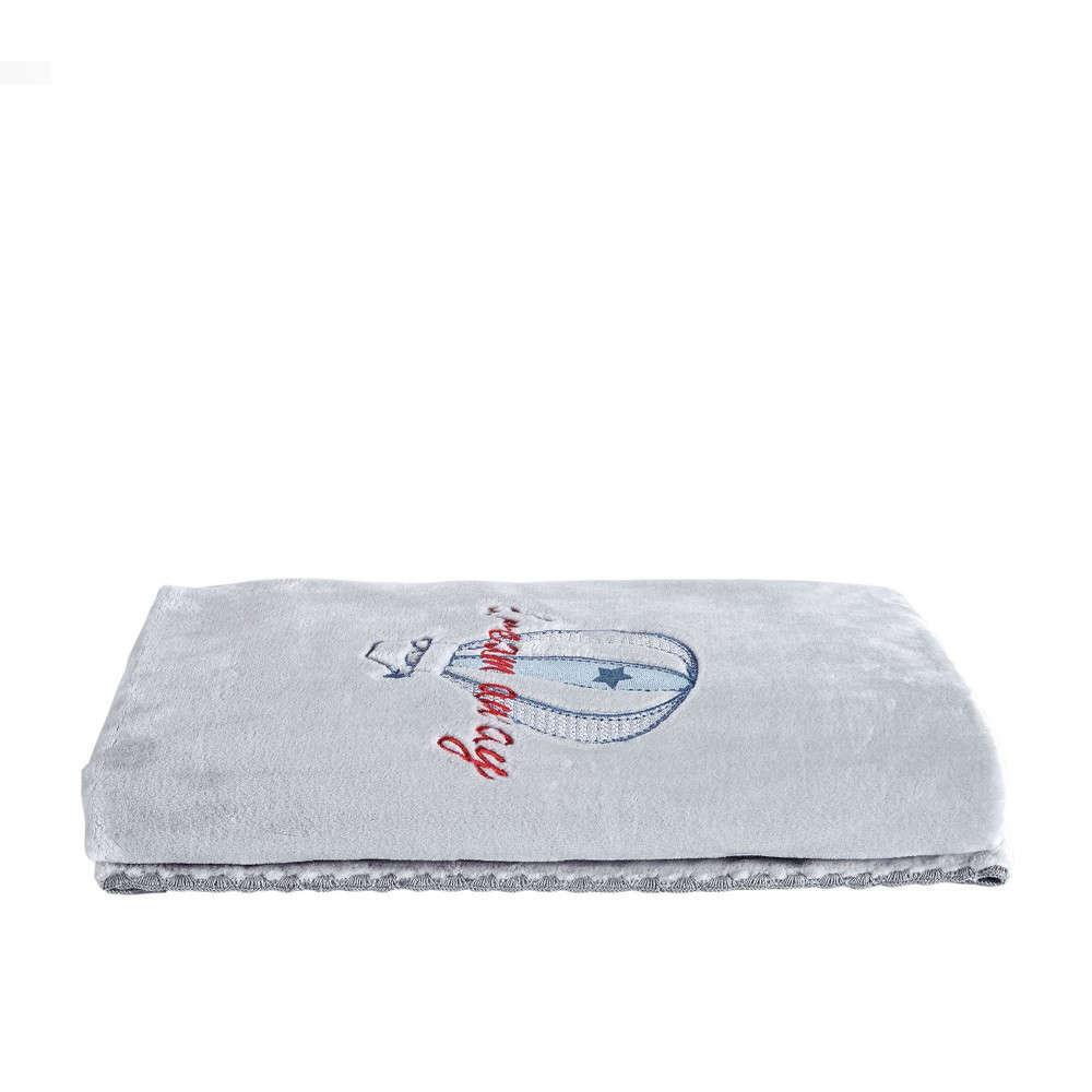 Κουβέρτα Βρεφική Airballοon White-Grey Kentia Αγκαλιάς 80x110cm