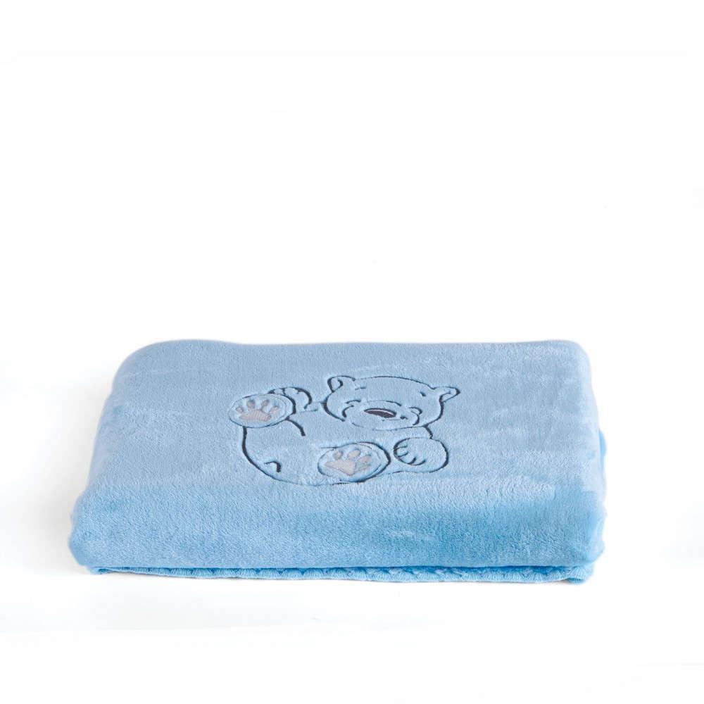 Κουβέρτα Βρεφική Polar Blue Kentia Αγκαλιάς 80x110cm