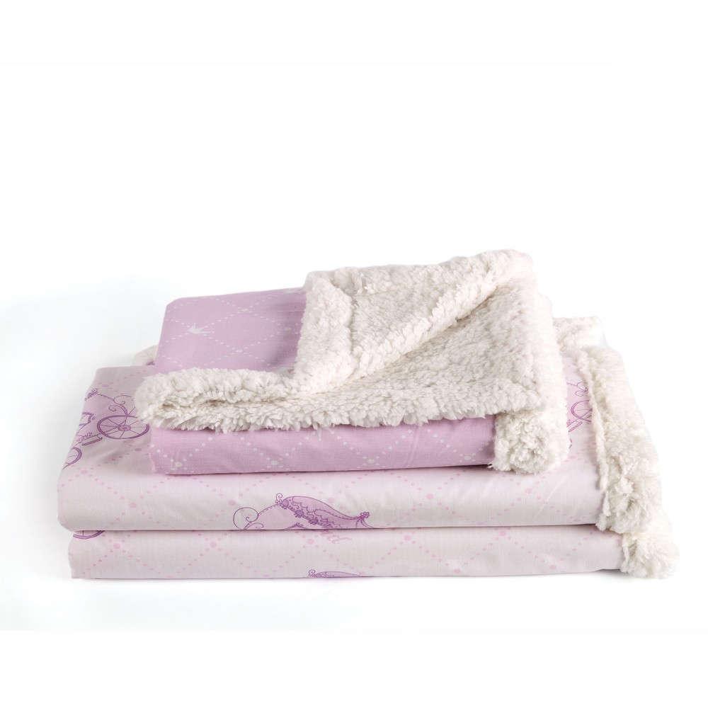 Κουβέρτα Βρεφική Tiara Με Γούνα Lila Kentia Αγκαλιάς 70x100cm