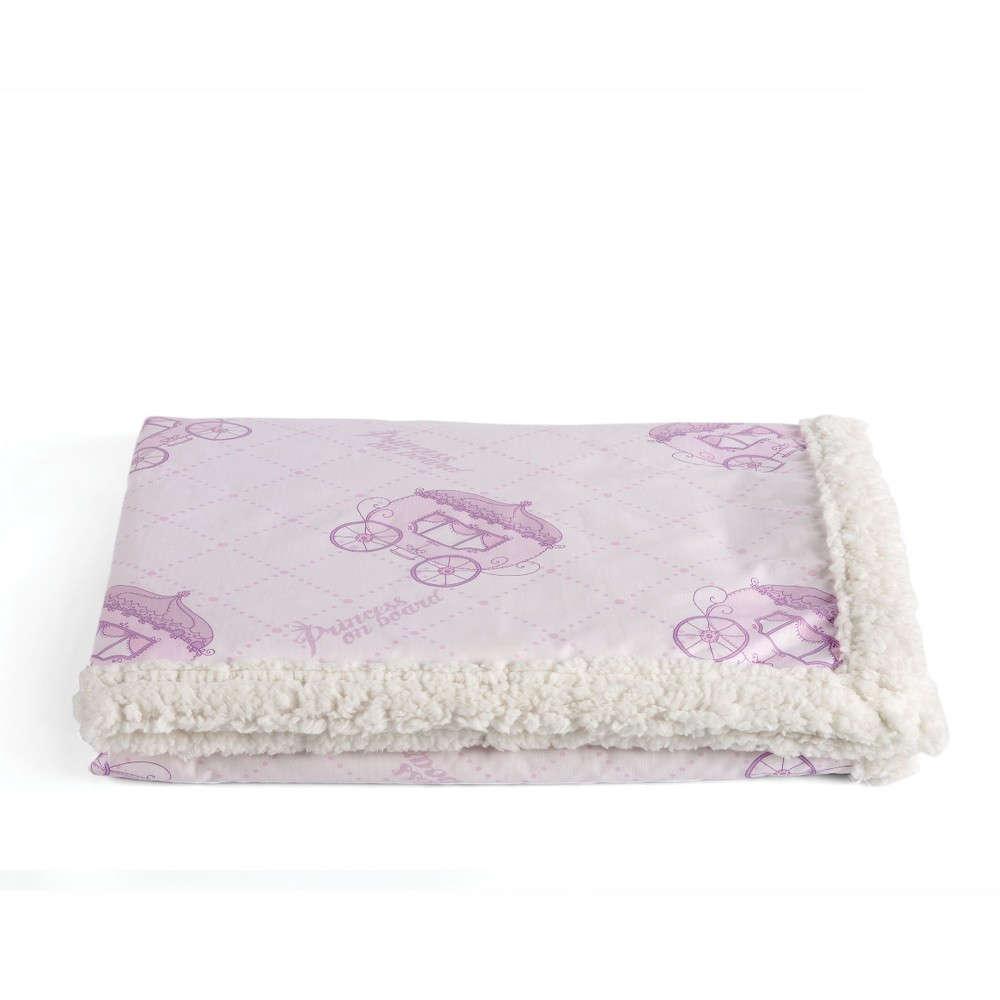 Κουβέρτα Βρεφική Tiara Με Γούνα Lila Kentia Κούνιας 110x140cm