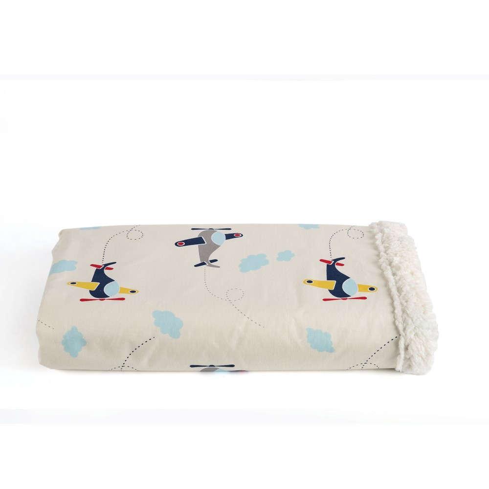 Κουβέρτα Βρεφική Wings Με Γούνα Kentia Κούνιας 110x140cm