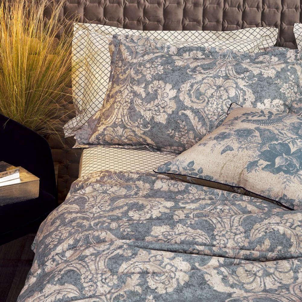 Μαξιλαροθήκες Σετ Anastasia 01A Σχέδιο Κατωσέντονου Grey Kentia 50Χ70 50x75cm