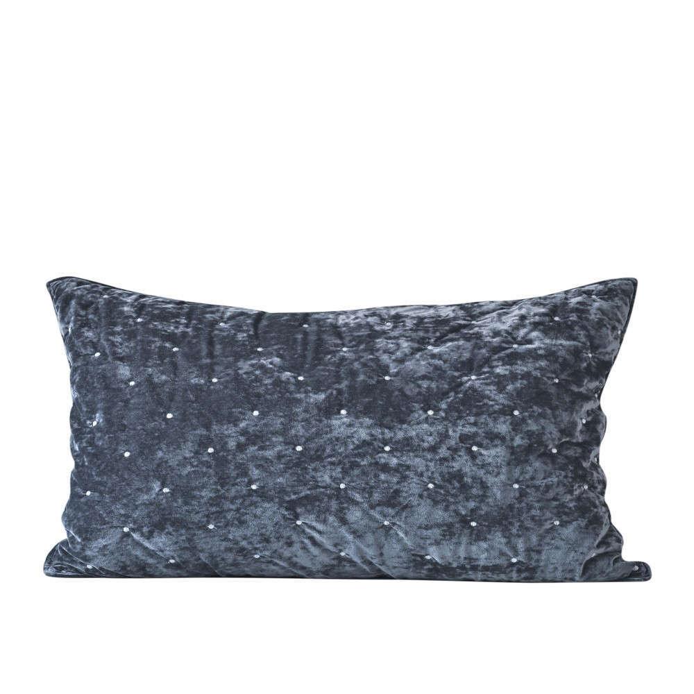 Μαξιλαροθήκη Διακοσμητική Silena 24 Dark Grey Kentia 60X60 Βαμβάκι-Polyester