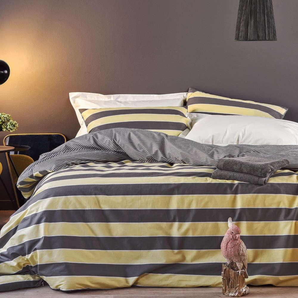 Πάπλωμα Bilbo 03 Yellow-Grey Kentia Μονό 160x240cm