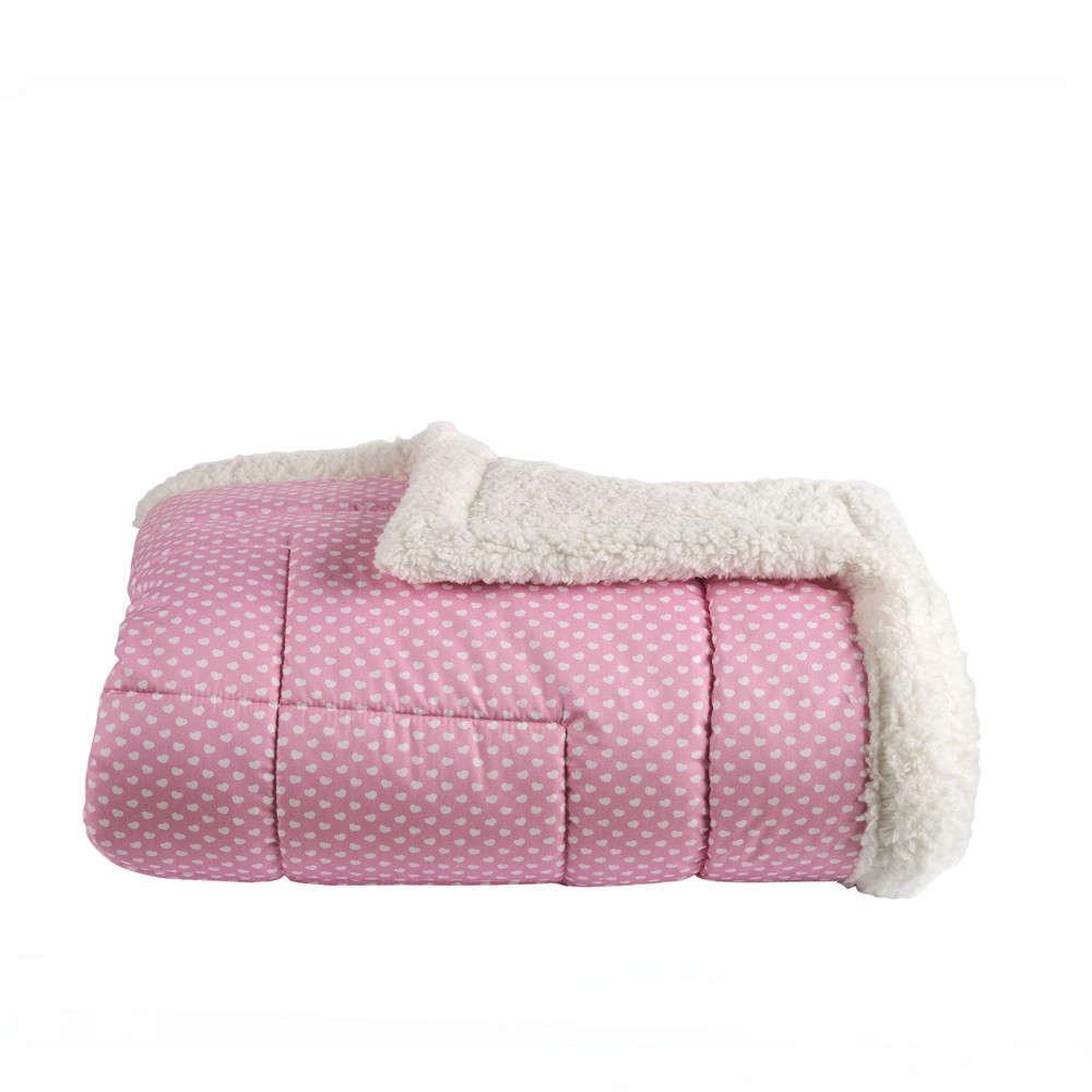 Πάπλωμα Με Γούνα Παιδικό Nanny 141 Pink Kentia Μονό 160x240cm