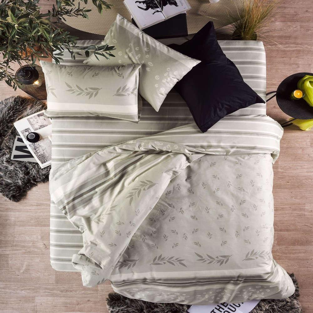 Παπλωματοθήκη Σετ Athena 36 Olive Kentia Υπέρδιπλo 220x240cm