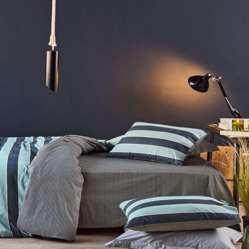 Παπλωματοθήκη Σετ Bilbo 01 Blue-Grey Kentia Μονό 160x240cm