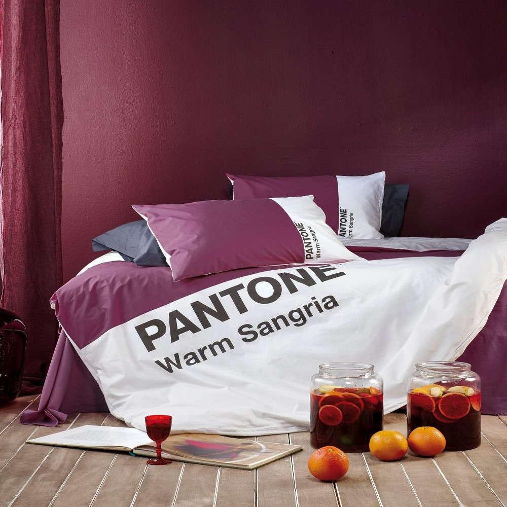 Παπλωματοθήκη Σετ 3Τμχ Pantone 501 Warma Sangria Kentia King Size 260x240cm