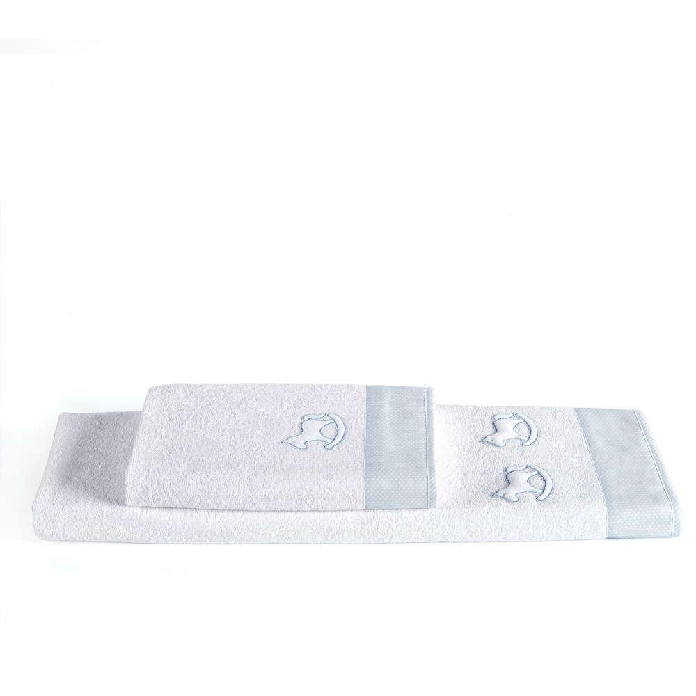 Πετσέτες Βρεφικές Σετ Bambino 19 Light Blue Kentia Σετ Πετσέτες