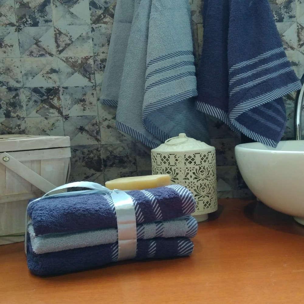 Πετσέτες Σετ Lisa 01 Blue Kentia Σετ Πετσέτες 50x90cm