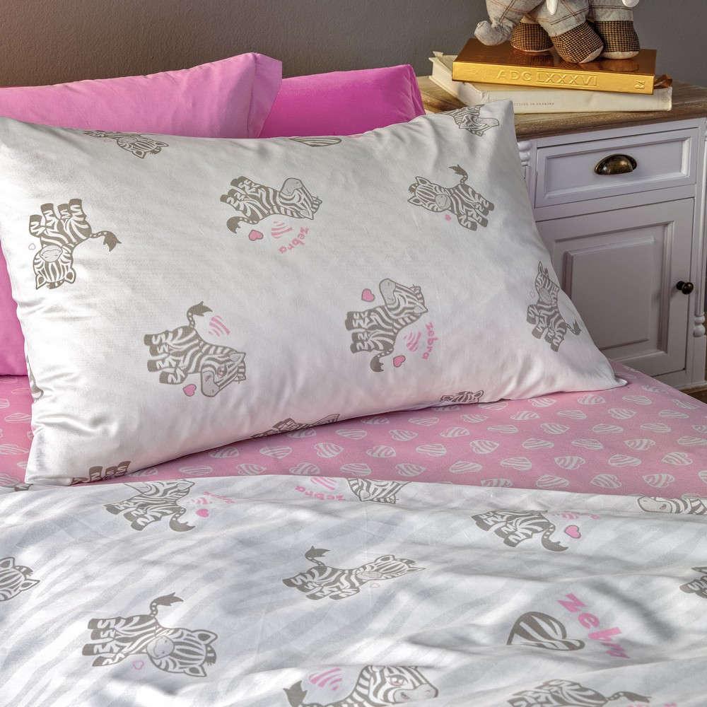 Σεντόνι Βρεφικό Σετ Africa Grey-Pink Kentia Κούνιας 120x170cm