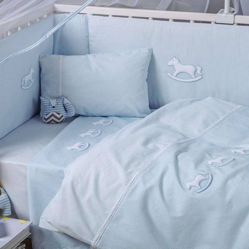 Σεντόνι Βρεφικό Σετ Bambino 19 Light Blue Kentia Κούνιας 120x160cm