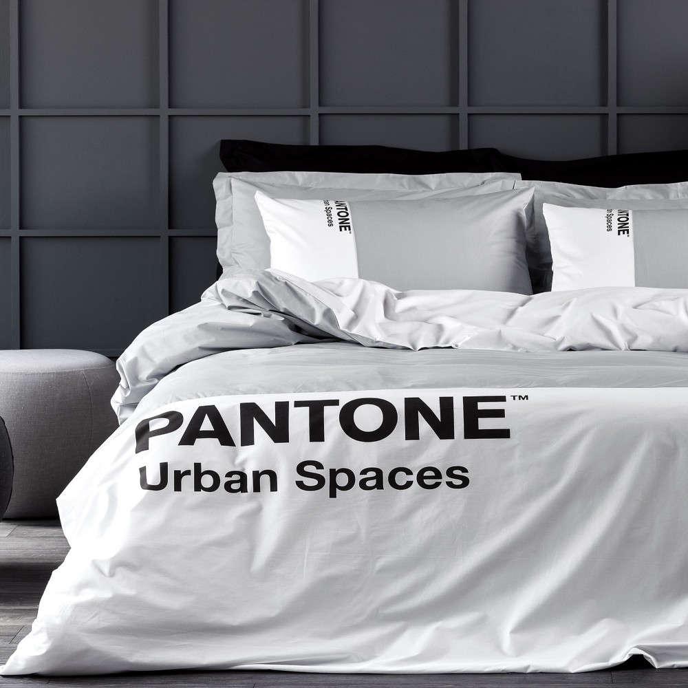 Σεντόνι Σετ Pantone 4204 Light Grey Kentia King Size 270χ285cm