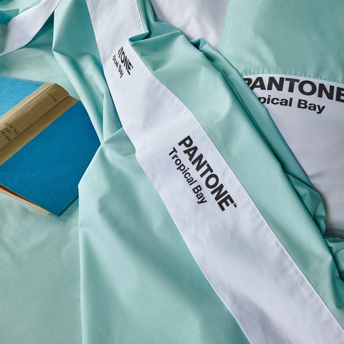Σεντόνια Σετ 4Τμχ. Pantone 5306 Turquoise Kentia Υπέρδιπλo 240x285cm
