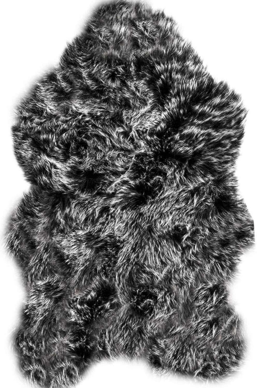 Χαλάκι Γούνινο Foxy 04 Black Kentia 70X150
