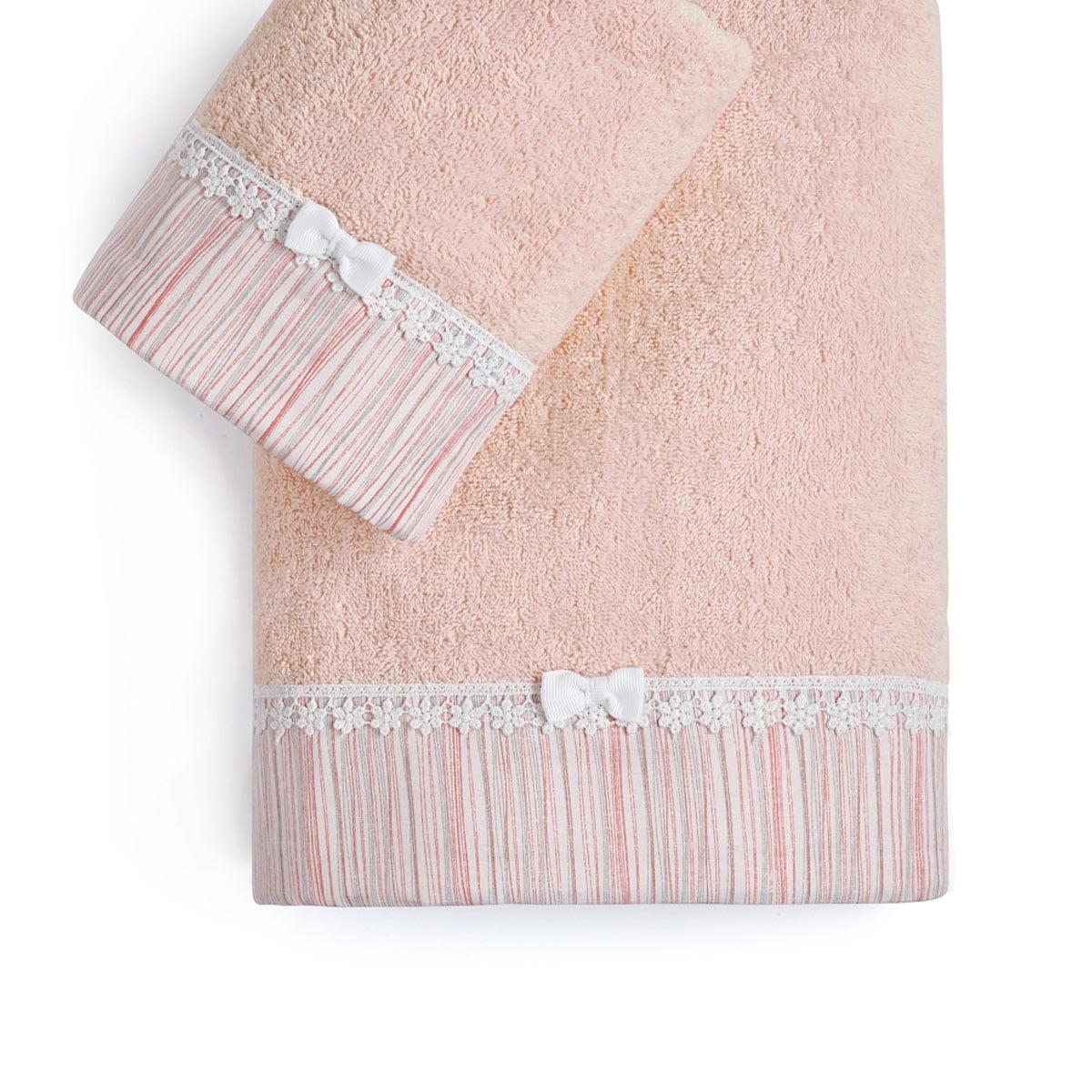 Πετσέτες Βρεφικές Σετ 2Τμχ. Nadine Pink Kentia Σετ Πετσέτες