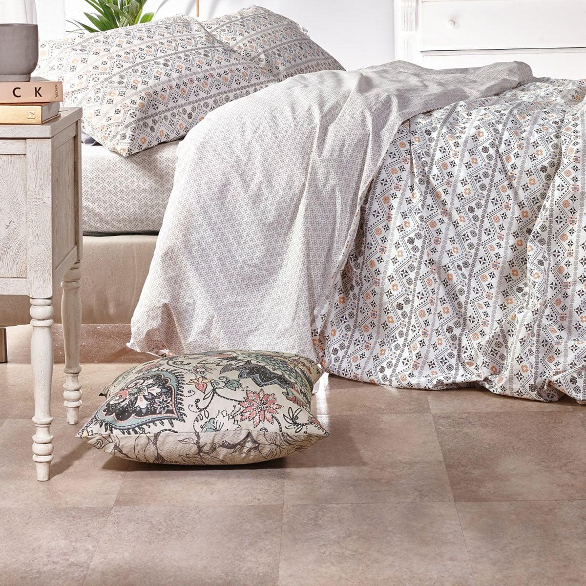Κουβερλί Calipso 21 Grey-White Kentia Μονό 160x260cm
