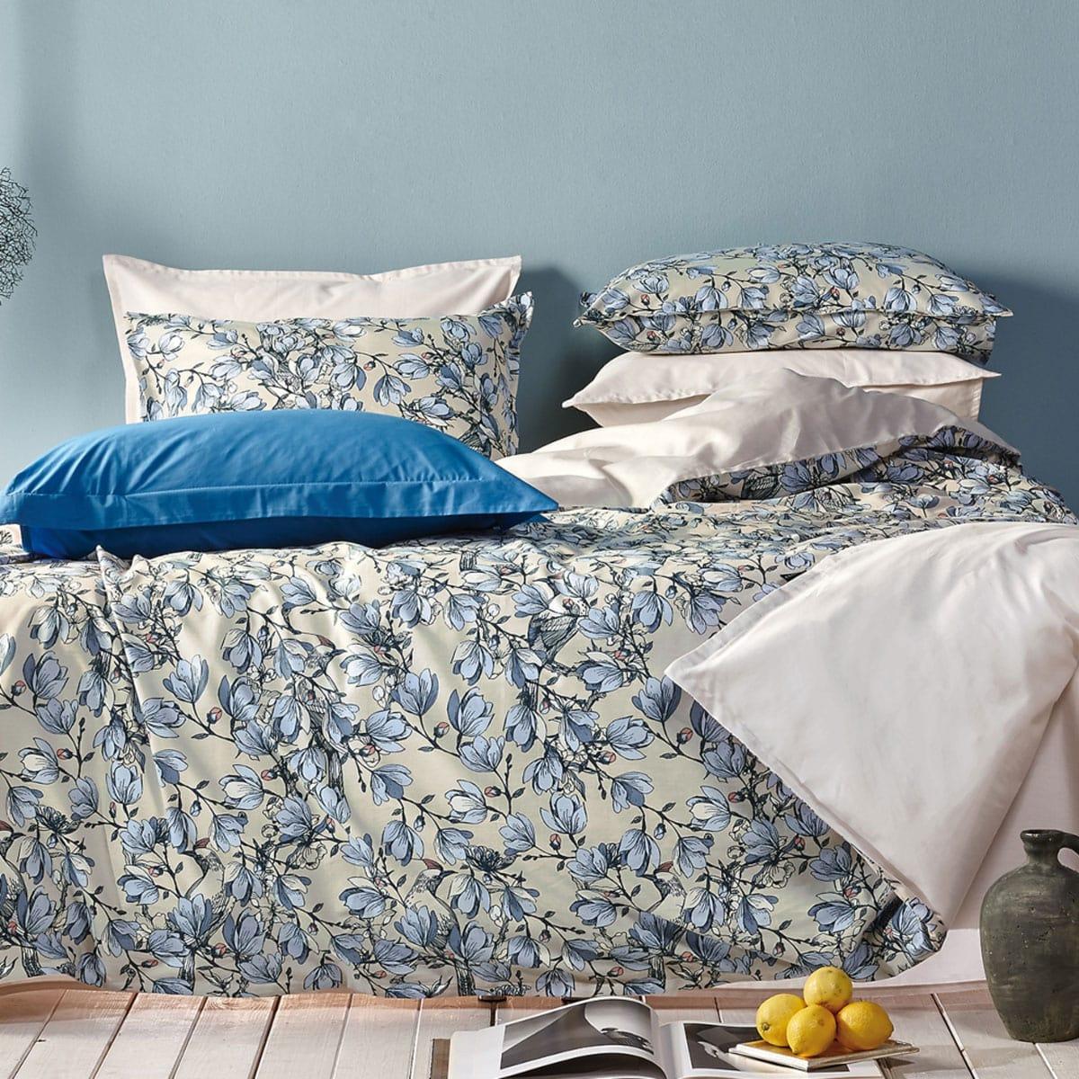 Κουβερλί Eridanos 26 Beige-Blue Kentia King Size 270x270cm