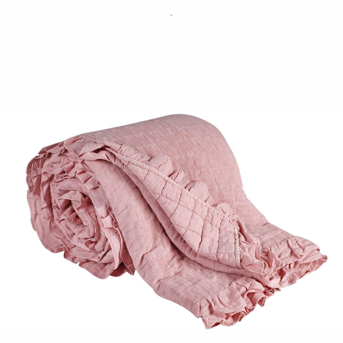 Κουβερλί Jemina 18 Διπλής Όψης Pink Kentia King Size 240x260cm