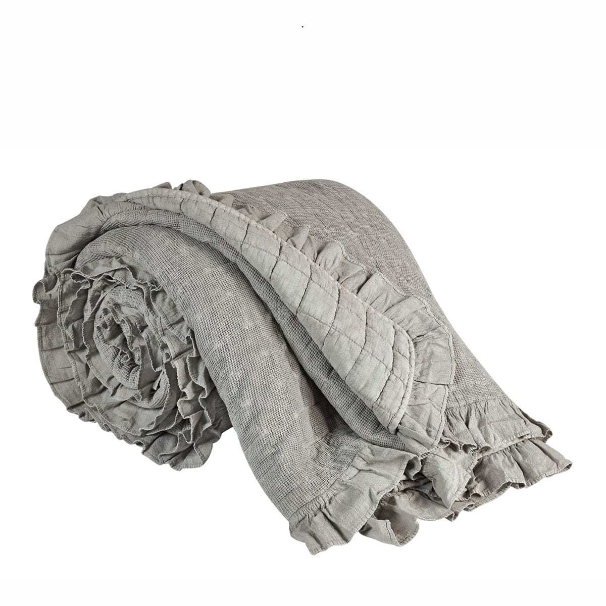 Κουβερλί Jemina 22 Διπλής Όψης Grey Kentia King Size 240x260cm