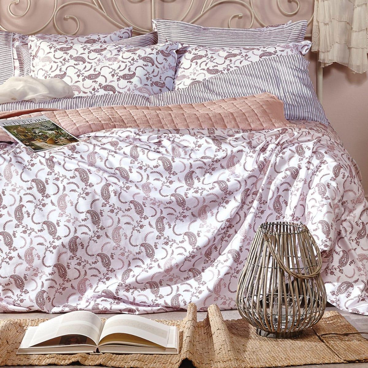 Κουβερλί Leona 5 Pink Kentia Υπέρδιπλo 230x250cm