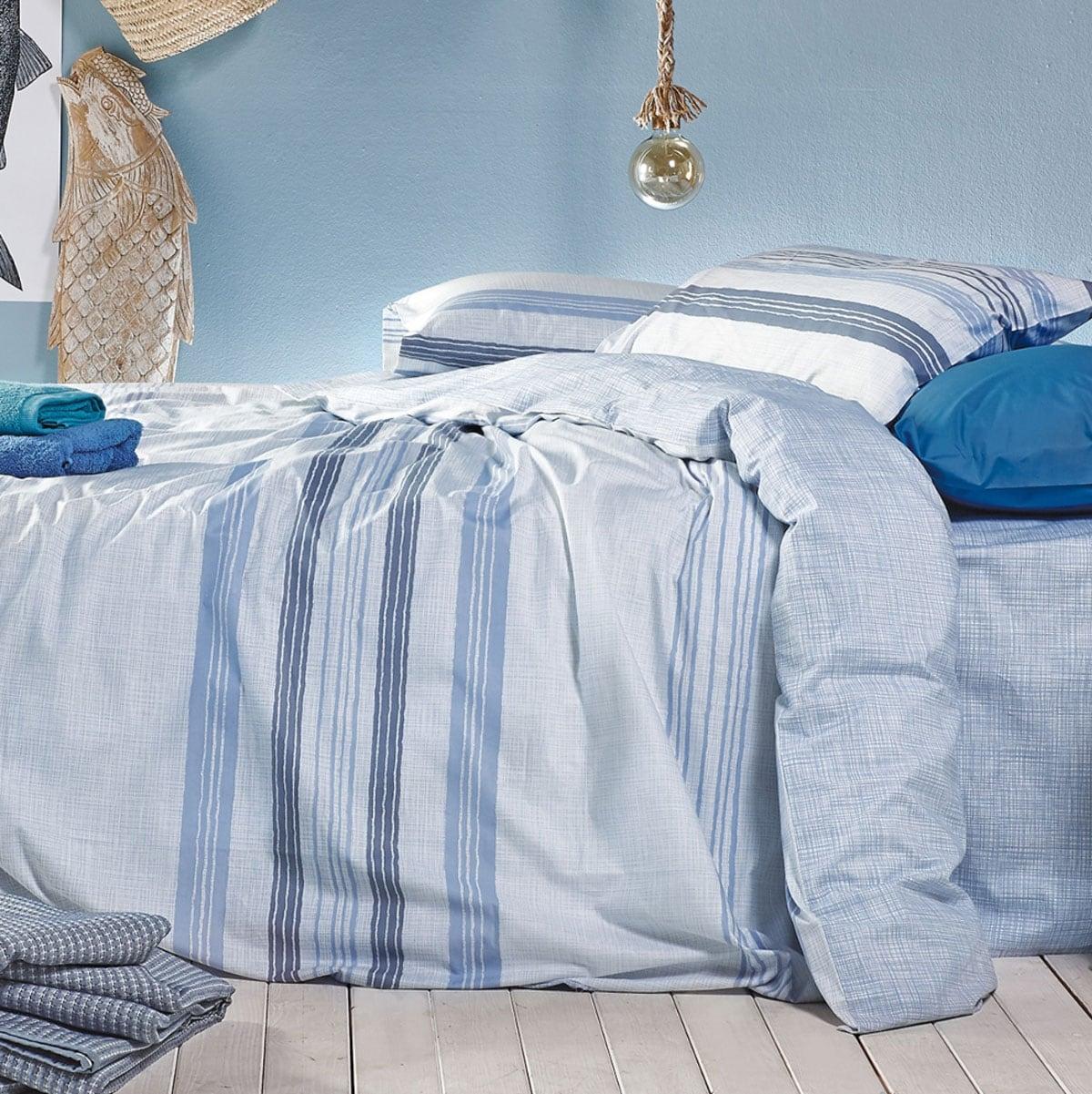 Κουβερλί Stormy 1 Blue Kentia Μονό 160x260cm