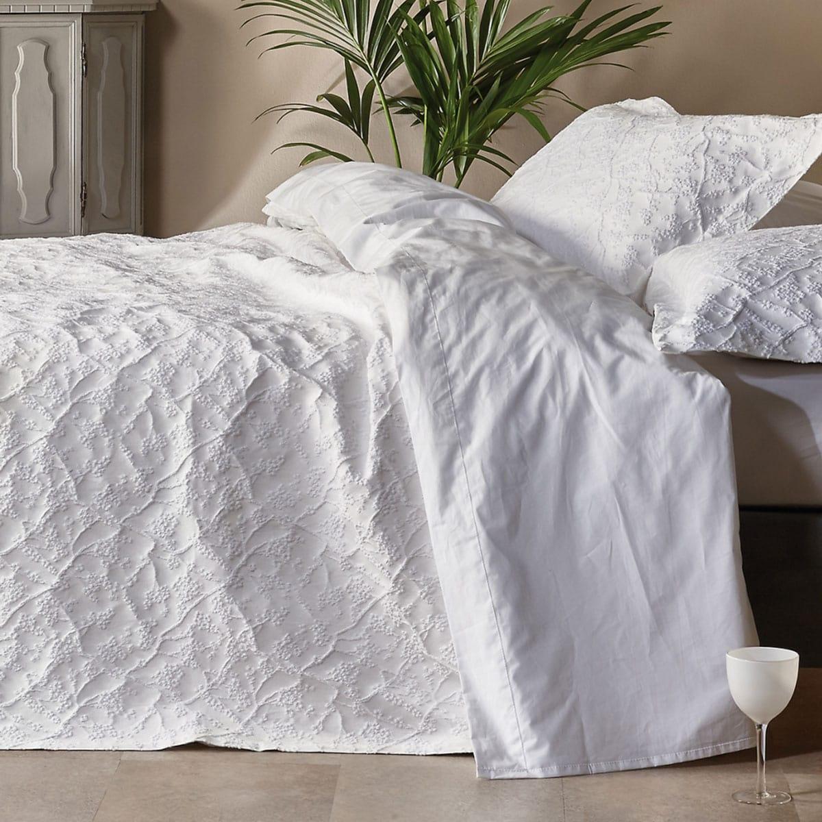 Κουβέρτα Cybele 00 White Kentia Υπέρδιπλo 230x260cm
