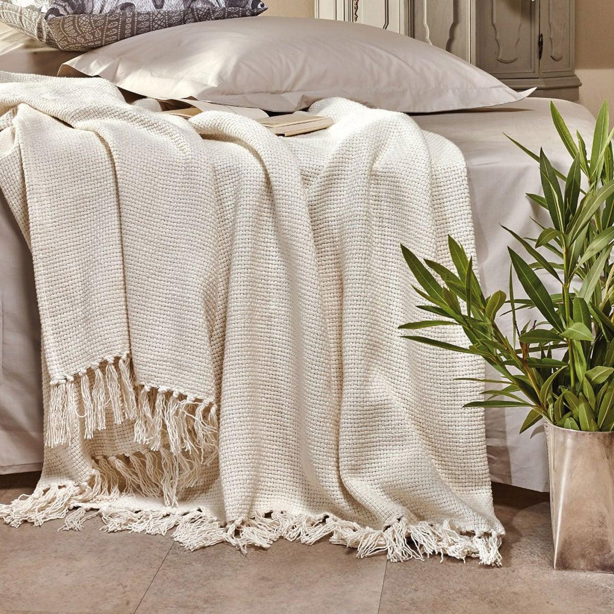 Κουβέρτα Rome 12 Ivory Kentia Ημίδιπλο 180x240cm
