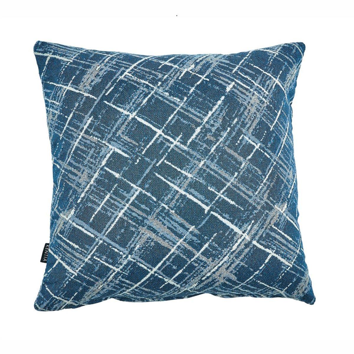 Μαξιλαροθήκη Διακοσμητική Rust 01 Blue Kentia 50X50 Βαμβάκι-Polyester