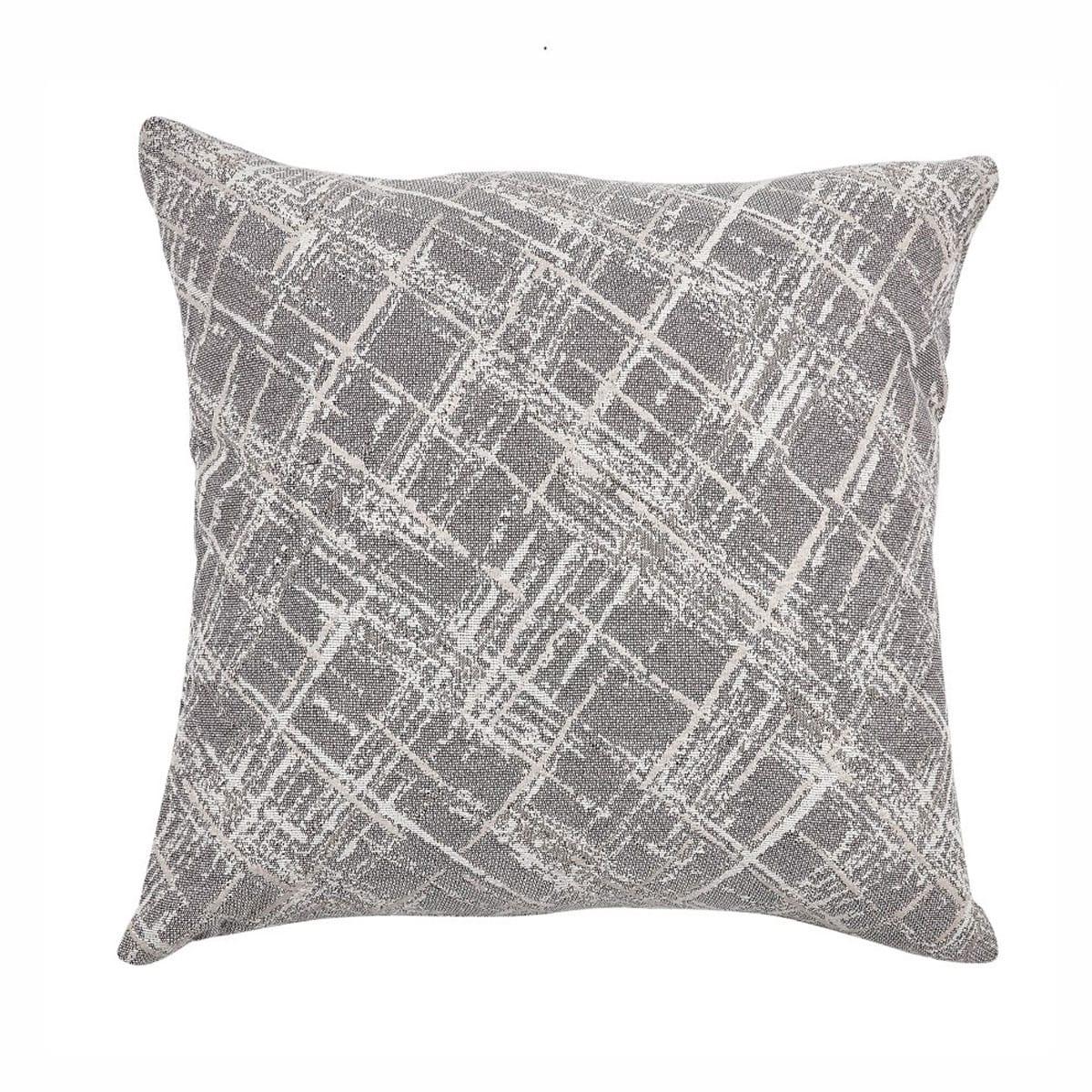 Μαξιλαροθήκη Διακοσμητική Rust 15 Grey Kentia 50X50 Βαμβάκι-Polyester