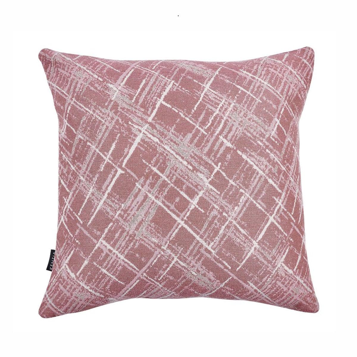 Μαξιλαροθήκη Διακοσμητική Rust 17 Rose Kentia 50X50 Βαμβάκι-Polyester