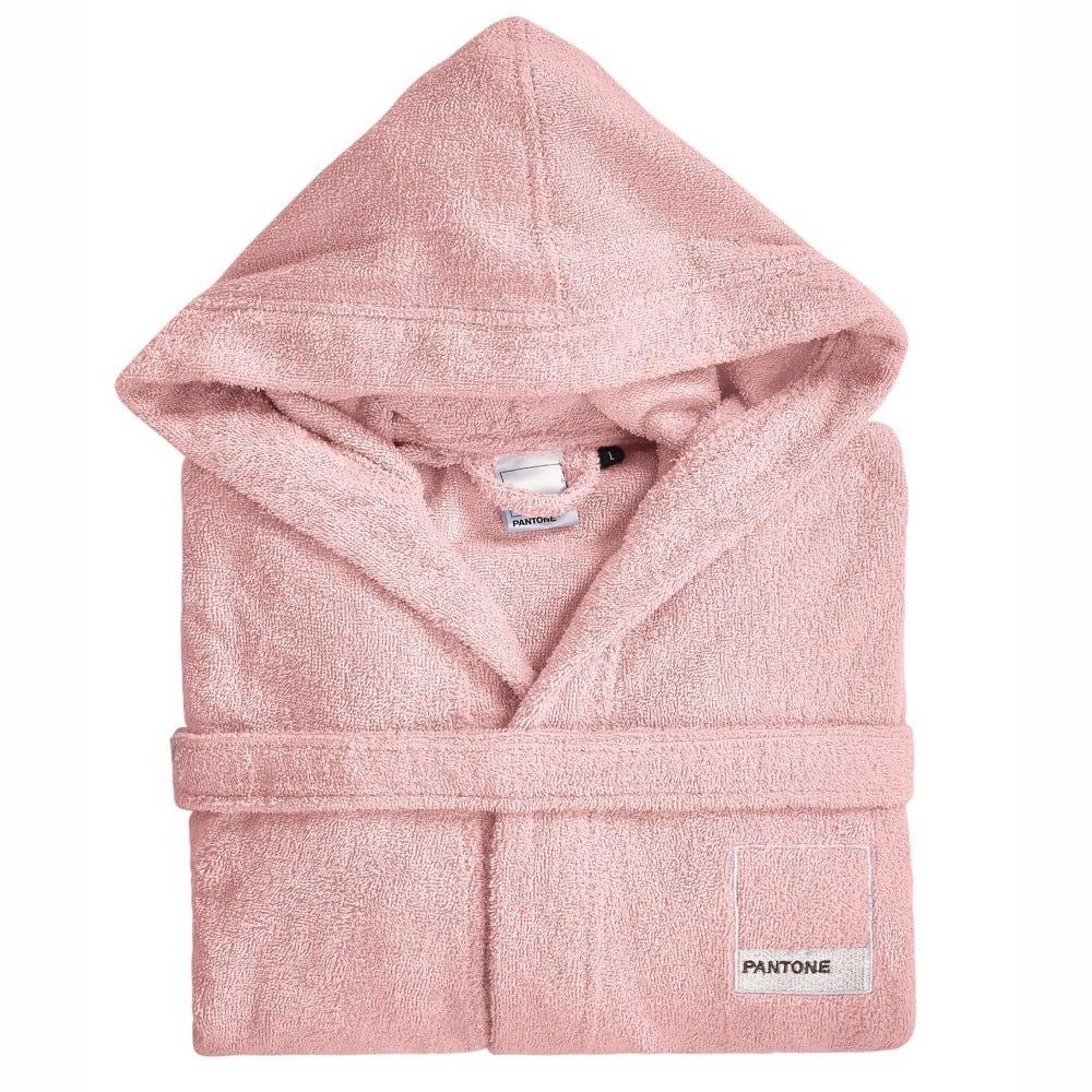 Μπουρνούζι Pantone 0314 Με Γιακά Pink Kentia Large