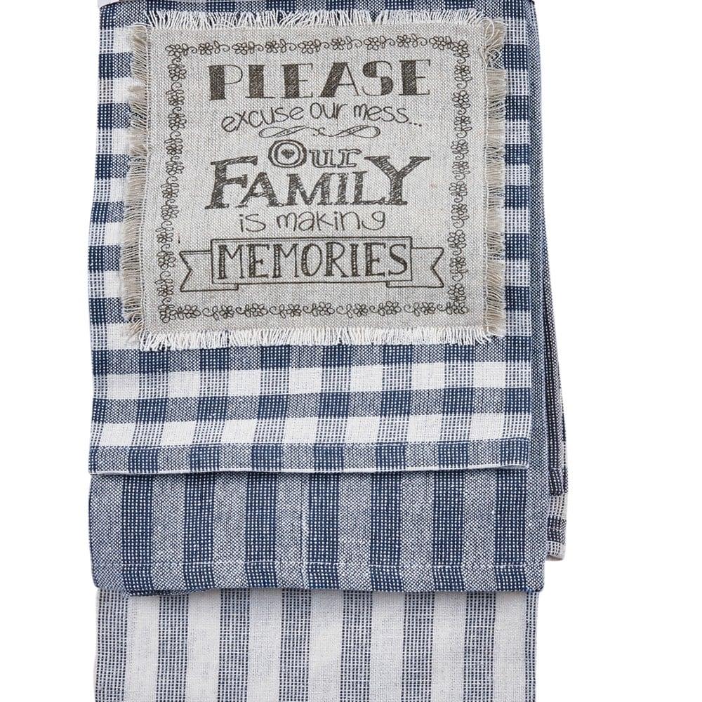 Πετσέτες Κουζίνας Σετ 3Τμχ. Bean 204 Grey-Blue Kentia 45x65cm