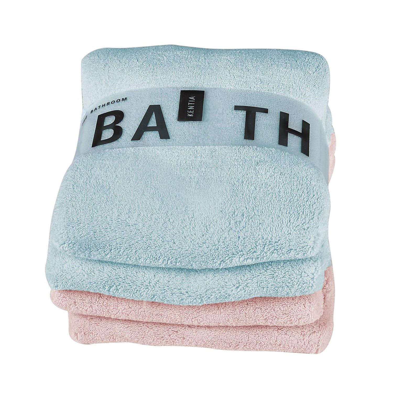 Πετσέτες Σετ 2Τμχ. Roberta 1914 Pink-Blue Kentia Σετ Πετσέτες