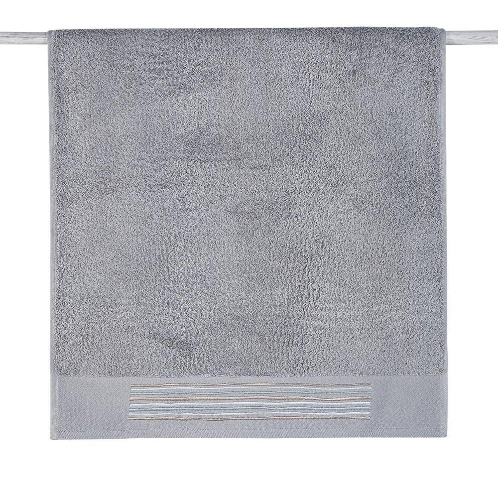 Πετσέτες Σετ 3Τμχ. Stick 22 Grey Kentia Σετ Πετσέτες