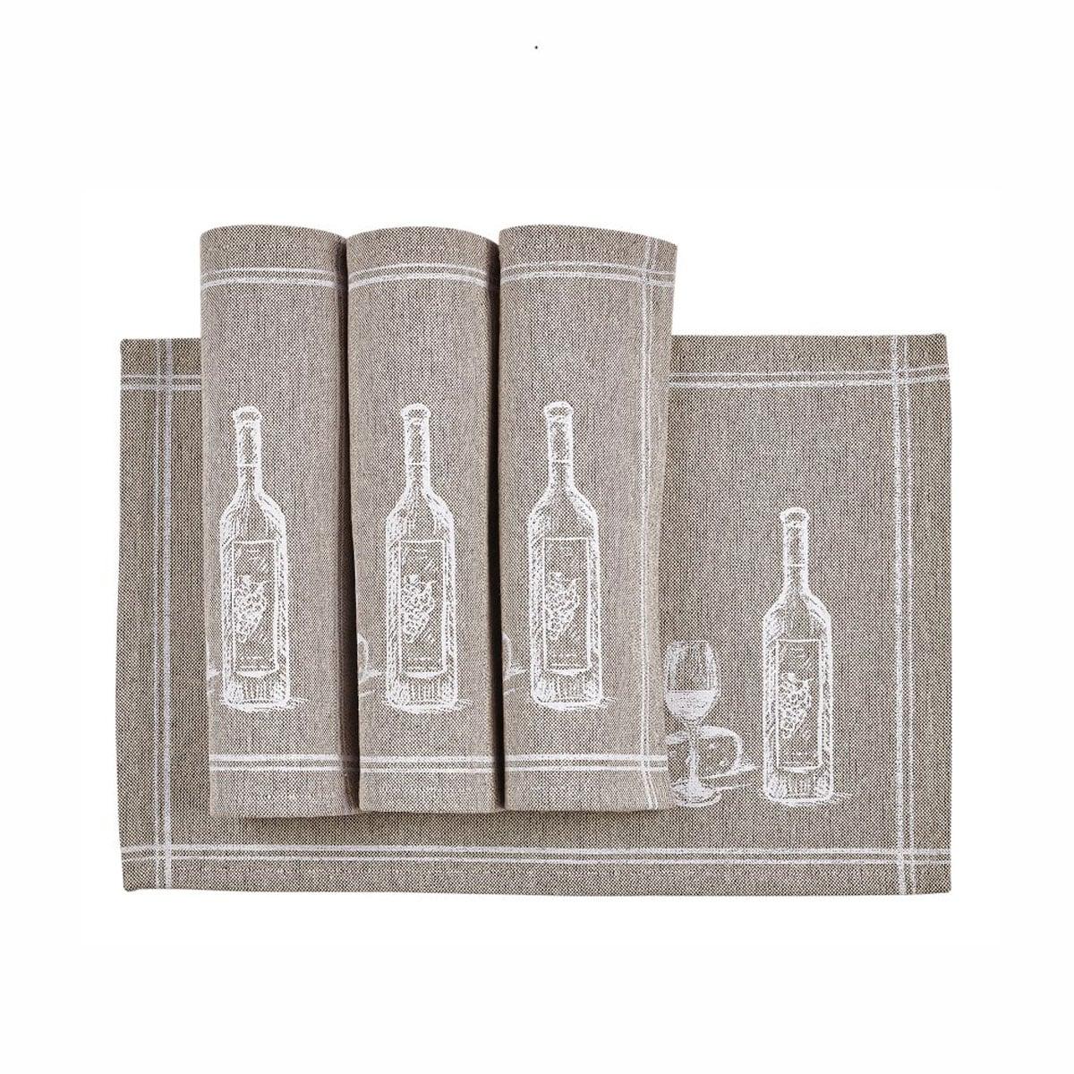 Σουπλά Σετ 4Τμχ. Wine Beige Kentia 35x50cm