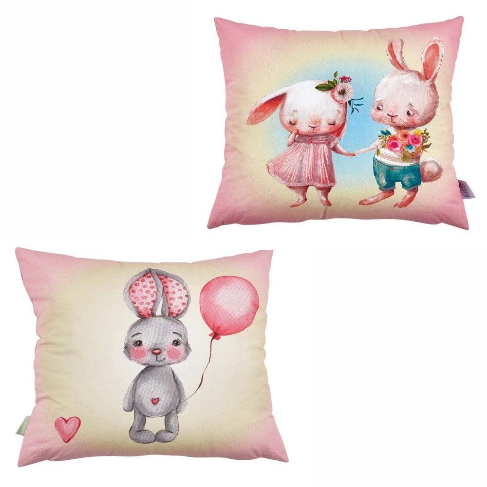 Μαξιλαροθήκη Διακοσμητική Παιδική Barny Διπλής Όψης Pink-Beige Kentia 45X45 45x45cm