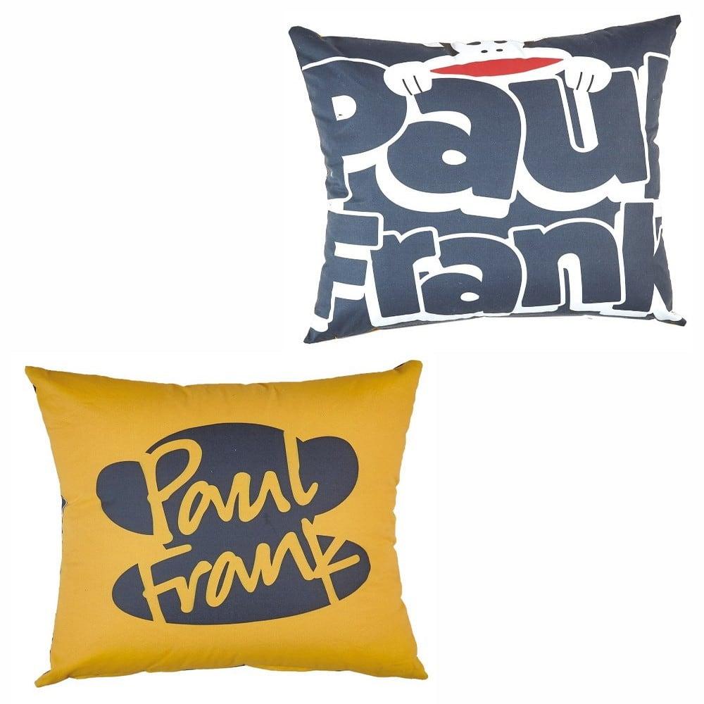 Μαξιλαροθήκη Διακοσμητική Παιδική Paul Frank 25 Διπλής Όψης Grey-Yellow Kentia 50X50 50x50cm