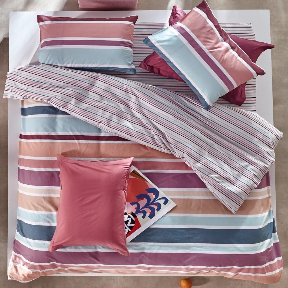 Κουβερτόριο Madison 27 Purple-Pink-Beige-Green Kentia Υπέρδιπλo 220x260cm
