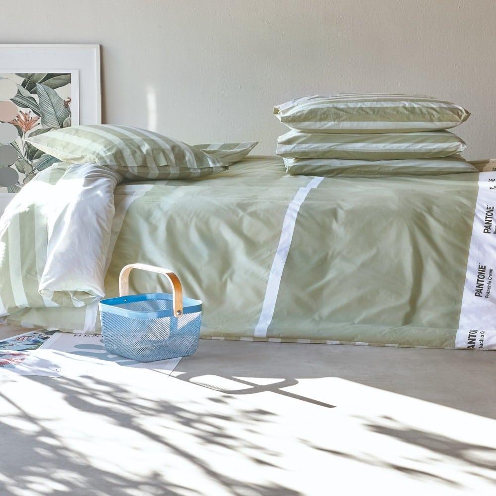 Κουβερτόριο Pantone 0636 Green Kentia Υπέρδιπλo 220x260cm