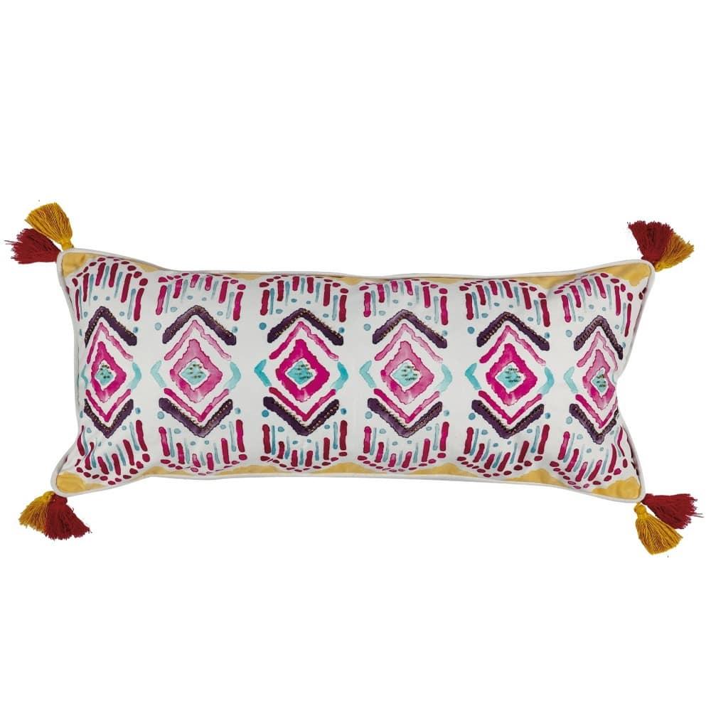 Μαξιλάρι Διακοσμητικό (Με Γέμιση) Casa 214 Ecru-Fucsia-Purple-Mint Kentia 30Χ50 100% polyester