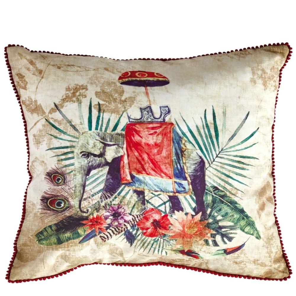 Μαξιλαροθήκη Διακοσμητική Casa 219 Ochre-Green-Red Kentia 45X45 100% polyester