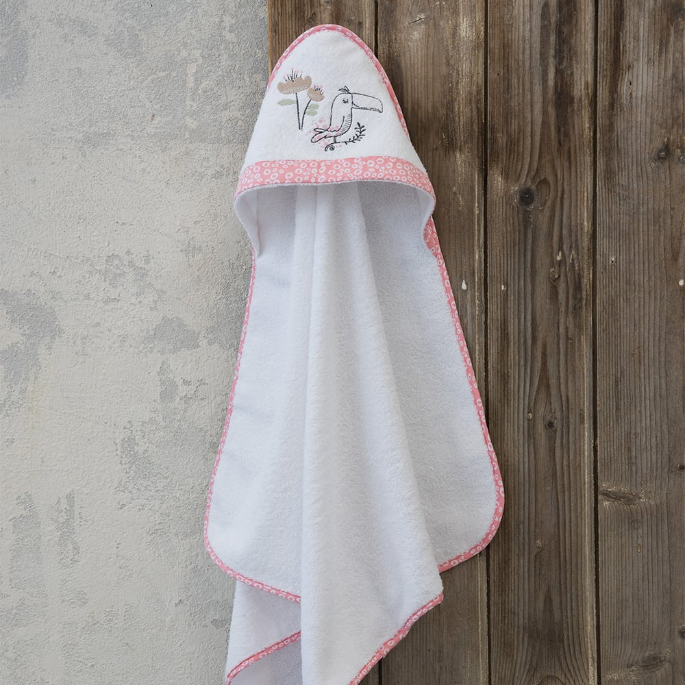 Κάπα Βρεφική Toco Toucan White-Pink Nima 0-2 ετών