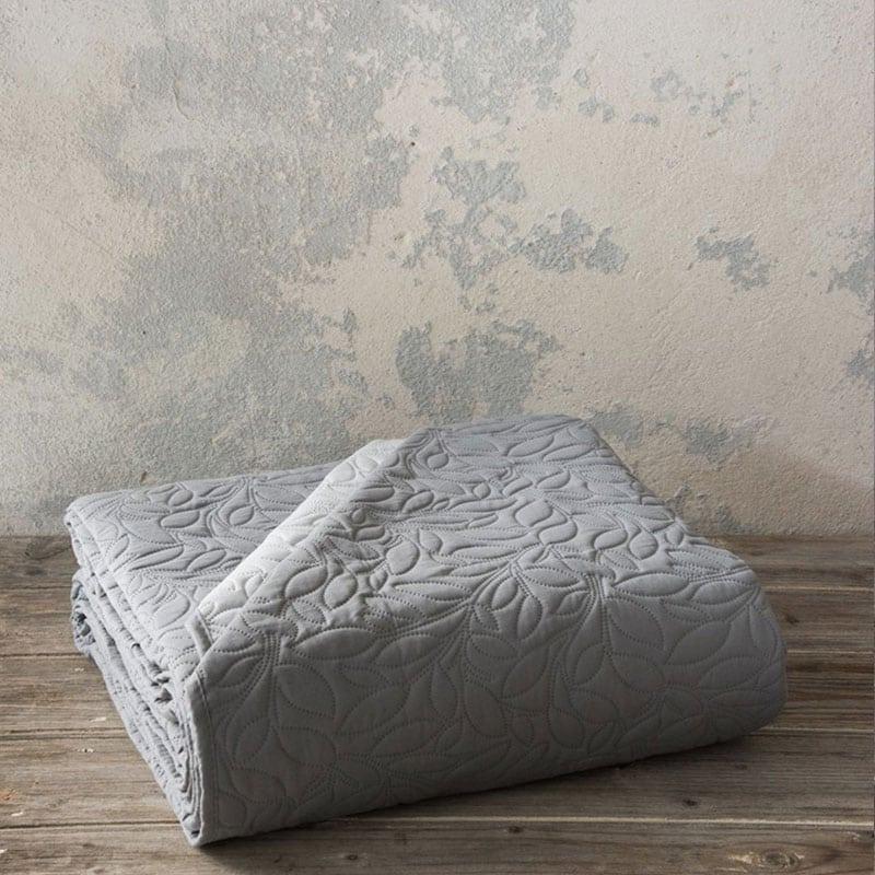Κουβερλί Foglie Graphite-Gray Nima Υπέρδιπλo