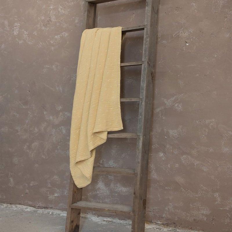 Κουβέρτα Balmy Mustard Beige Nima Υπέρδιπλo