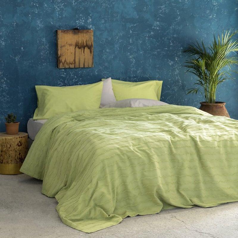 Κουβέρτα Oleada Green Nima Υπέρδιπλo