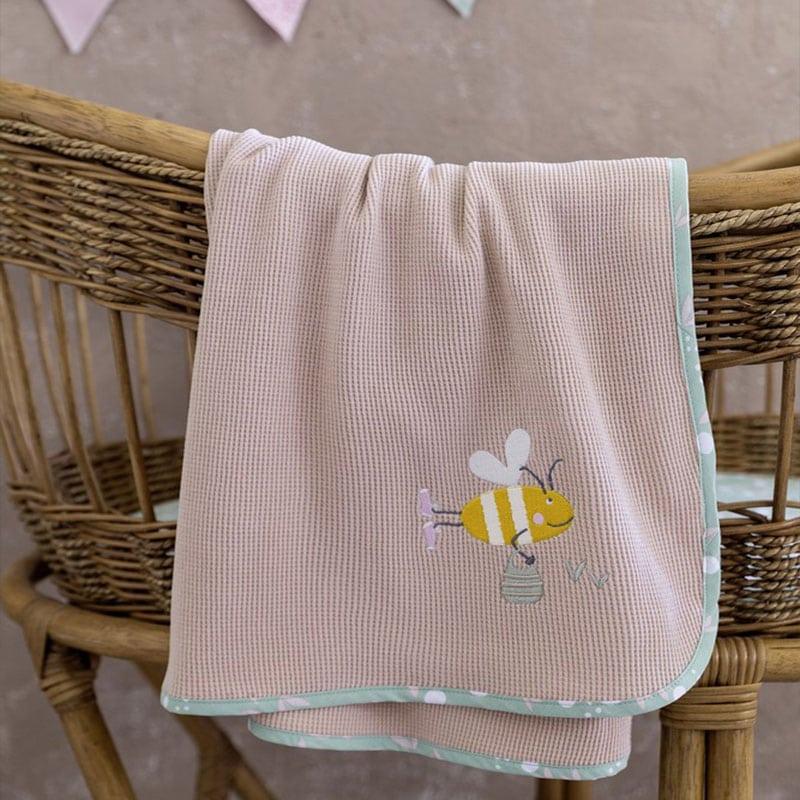 Κουβέρτα Βρεφική Πικέ Bumblebee Somon Nima Αγκαλιάς