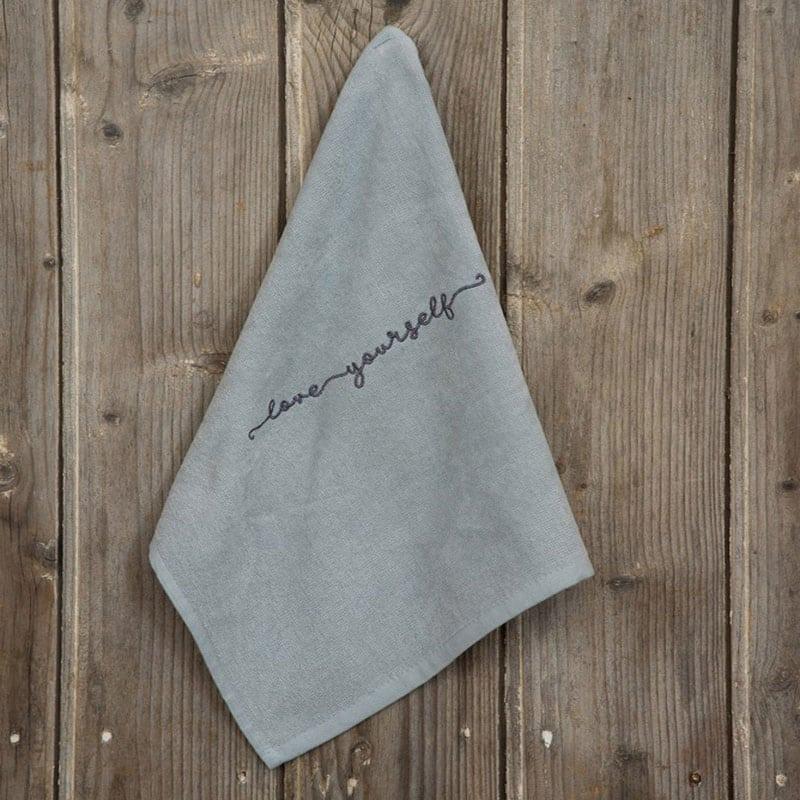 Λαβέτα Love Yourself Gray Nima Χεριών 40x40cm