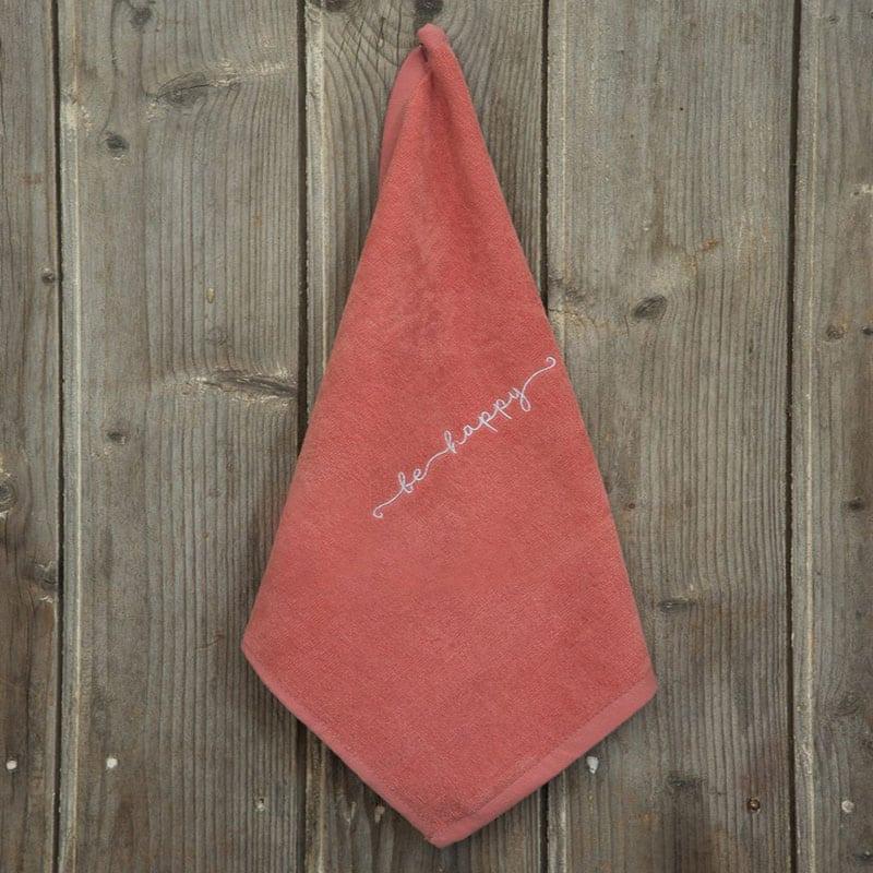 Λαβέτα Be Happy Terracotta Nima Χεριών 40x40cm