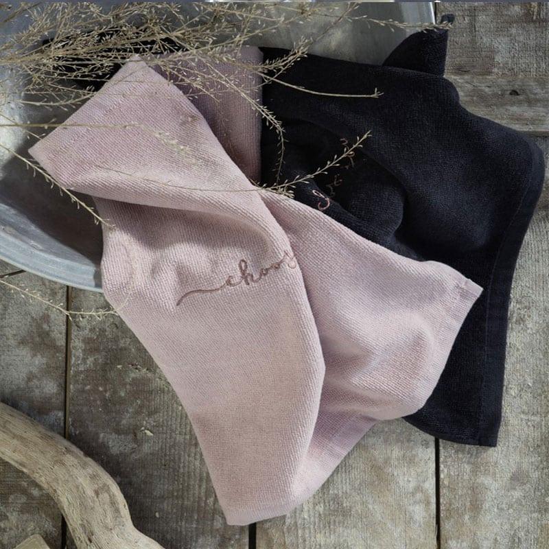 Λαβέτες Σετ 2τμχ Choose Joy Pink-Black Nima Σετ Πετσέτες 40x40cm